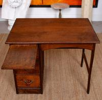 Carved Oak Desk French Writing Table Golden (6 of 15)