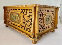 Unusual Pierced Box with Enamel Butterflies c.1920 (9 of 10)