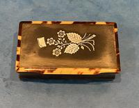 Victorian Horn & Tortoiseshell Snuff Box with Silver Inlay (16 of 16)