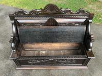 Antique English Carved Oak Hall Bench Settle (10 of 10)