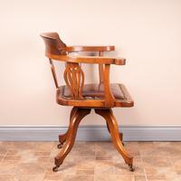 Oak Revolving Office Desk Chair (6 of 10)