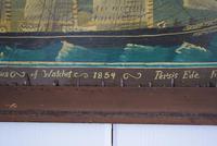 19th Century Maritime Oil on Board Topsail Schooner (7 of 10)