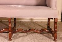 Louis XIII Sofa Called Os De Mouton in Walnut 17th Century (3 of 9)