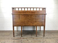 Edwardian Antique Oak Kneehole Desk (2 of 13)