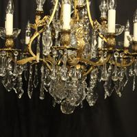 French Gilded Bronze 11 Light Antique Chandelier (10 of 10)