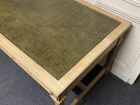 Large Oak 6 Drawer Writing Table (7 of 16)