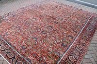 Antique Heriz square carpet 383x311cm (9 of 9)