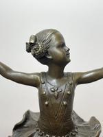 Charming  German Art Deco Style Bronze Sculpture Dancing Young Ballerina Girl (5 of 24)