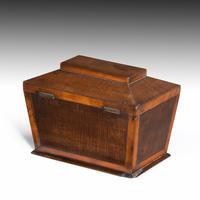 Shaped Late George III Period Mahogany Tea Caddy (4 of 4)