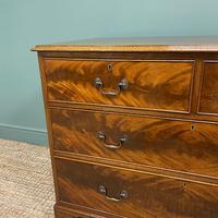 Quality Edwardian Flamed Mahogany Antique Chest of Drawers (5 of 5)