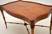 Georgian Style Yew Wood Coffee Table (6 of 9)