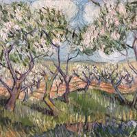 Impressionist Artist Gaussen - Oil on Board - Olive Trees c.1945 (2 of 9)