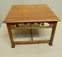 Arts & Crafts Oak Coffee Table (3 of 7)