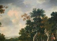 Exceptional Large 1700s Old Master Giltwood Landscape Oil on Canvas Painting (11 of 17)