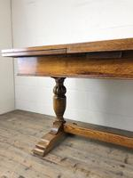 Early 20th Century Oak Draw Leaf Table (12 of 17)