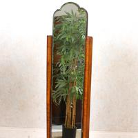 Art Deco Cheval Mirror Walnut (3 of 14)