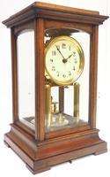 Rare Gustav Becker 400-day Torsion Clock German Mantel Clock Mahogany & Bevelled Glass Case (2 of 13)