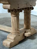 Extremely Rare Large Oak Refectory Table (8 of 35)