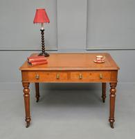 Victorian Oak Writing Table Desk (2 of 16)