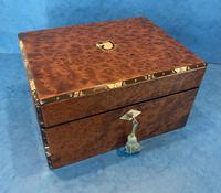 Victorian Burr Cedar Jewellery Box (10 of 11)