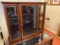 Late Victorian / Edwardian Mahogany Glazed Display Cabinet (3 of 4)