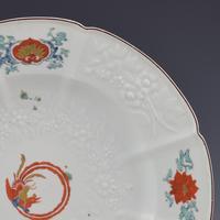 Chelsea Porcelain Kakiemon Damask'd Plate Coiled Phoenix c.1754 (2 of 7)