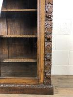 Victorian Glazed Oak Cabinet with Carved Detail (5 of 10)