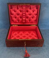 19th Century  French Burr Cedar Jewellery Box (11 of 11)