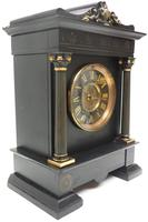 Amazing French Slate 8 Day Striking Heavy Quality Mantle Clock (11 of 12)