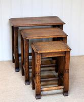Solid Oak Nest of Three Tables (9 of 9)