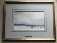 Ian Armour-chelu Watercolour  'On The Estuary, The Alde' (2 of 2)
