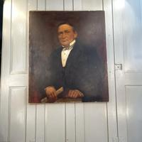 Large Antique Victorian Oil Painting Portrait of Gentleman in Formal Attire (10 of 10)