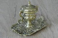 Fine Quality Brass 'Marine' Influenced Inkwell by William Tonks & Sons Registered Diamond Mark for 19th January 1881 (2 of 7)