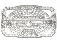 8.13ct Diamond & Platinum Brooch - Art Deco c.1935 (6 of 9)