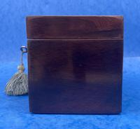 William IV Rosewood Twin Section Tea Caddy with Mother of Pearl Inlay (5 of 14)