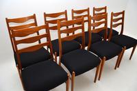 Set of 8 Danish Vintage Teak Dining Chairs by Arne Wahl Iversen (9 of 10)