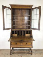 Early 20th Century Antique Oak Bureau Bookcase (6 of 17)