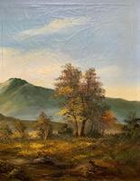 Large Early 20th Century Antique English Autumn Countryside Landscape Oil Painting (9 of 11)