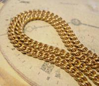 Victorian Pocket Watch Chain 1890s Antique 12ct Rose Gold Filled Albert With T Bar (5 of 12)