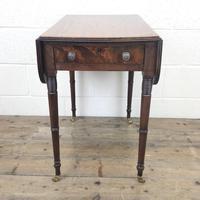 Antique Mahogany Drop Leaf Side Table