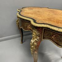 French Boulle & Brass Marquetry Bureau Plat (4 of 13)