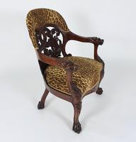 Mid-19th Century French Carved Walnut Desk Chair (10 of 12)