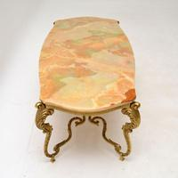 Antique French Onyx & Brass Coffee Table (3 of 12)