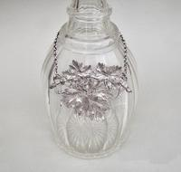 """Pair of 19th Century """"Vine Leaf"""" Decanter Labels for Sherry & Port c.1840 (6 of 7)"""