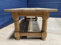 Good Looking Bleached Oak Farmhouse Dining Table (10 of 17)