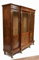 French Antique Bookcase Second Empire Bibliotheque Cabinet (16 of 20)