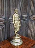 Grand Tour Gilt Bronze Roman Scholar (2 of 6)