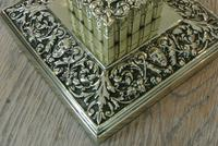 Large Victorian Brass Inkwell by William Tonks with Glass Liner WT&S c.1895 (7 of 9)