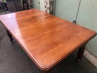 Antique Golden Oak Wind Out Extending Dining Table (9 of 11)