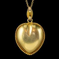 Antique Victorian Natural Pearl Heart Pendant Necklace 18ct Gold Circa 1880 (6 of 7)
